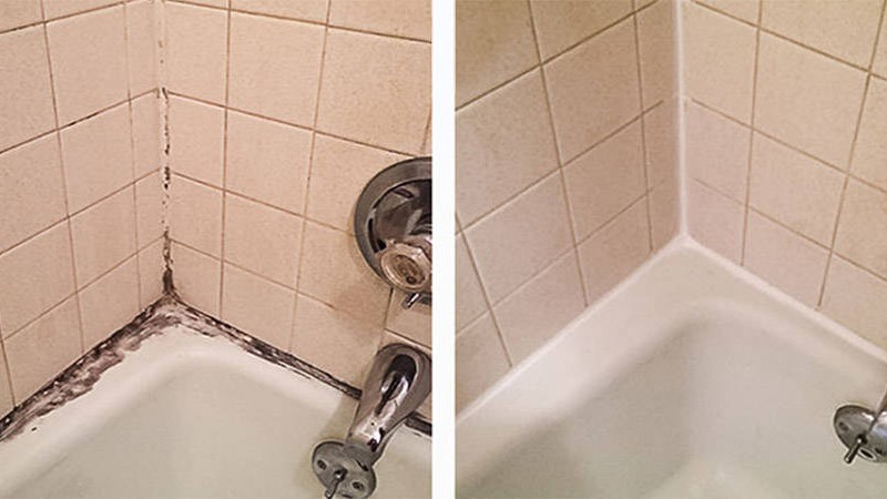 Tile and Grout Cleaning Around Tub