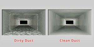 Before and After AC Duct Cleaning